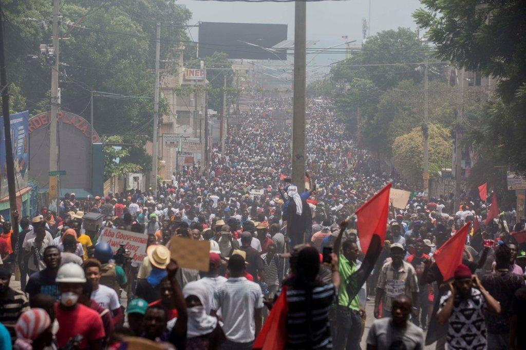 Marcha multitudinaria y pacífica en Haití